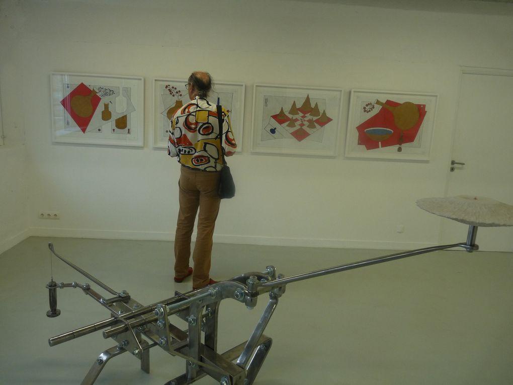 encre et aquarelle sur géotextile et sculptures en technique mixte., de Jiri Kratochvil