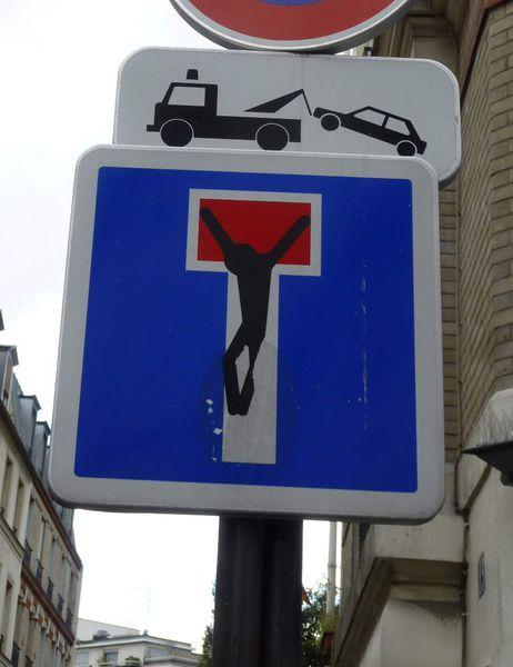 Détournements des panneaux de signalisation