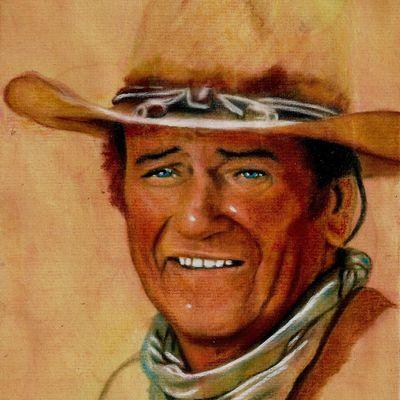 John Wayne et clint eastwood