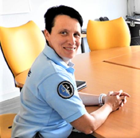 L'Adjudante/Chef Christelle Roussel nouvelle commandante  de la Brigade d'Artix