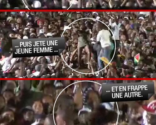 Akon toujours violent sur scène