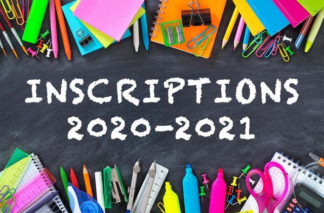Inscriptions septembre 2020