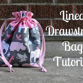 In Color Order: Lined Drawstring Bag Tutorial