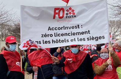 FO mobilise contre les licenciements boursiers chez AccorInvest