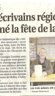 Dédicace : 21 novembre 2010 à St-Jean-Soleymieux