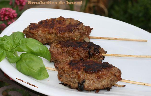 ^^Brochettes de viande hachée^^