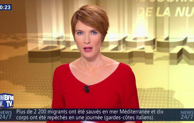 📸 LUCIE NUTTIN @LucieNuttin @JohannaCarlosD8 pour LE JOURNAL DE LA NUIT cette nuit @bfmtv #vuesalatele
