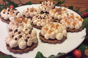 Sablés La Trinitaine, chocolat croquant et chantilly crème de marron