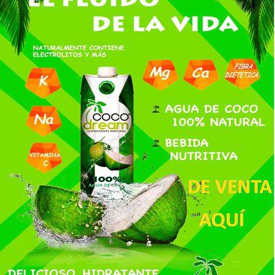 """El Agua de Coco es una bebida Nutritiva, naturalmente contiene Electrolitos, además es Deliciosa, Hidratante y Refrescante. Haz tu Pedido al tel. 4431995461, entrega a Domicilio """"Gratis"""" en la cd. de Morelia"""