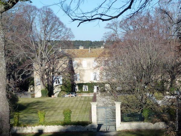 Château-Bas vu du temple de Diane