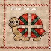 Plaid aux Tortues : Tortue Drapeau Basque - Chez Mamigoz