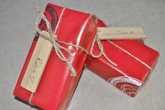 Etiquettes de Noël en bois