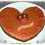 Coeur biscuité et chocolaté