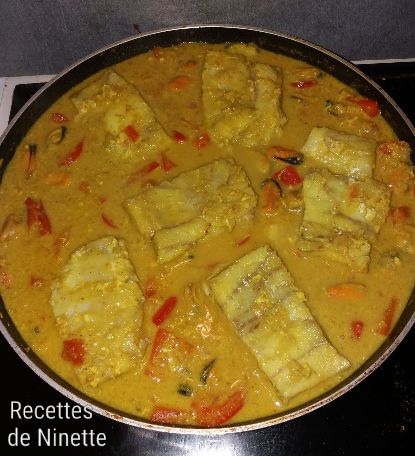 Curry de moules et poissons