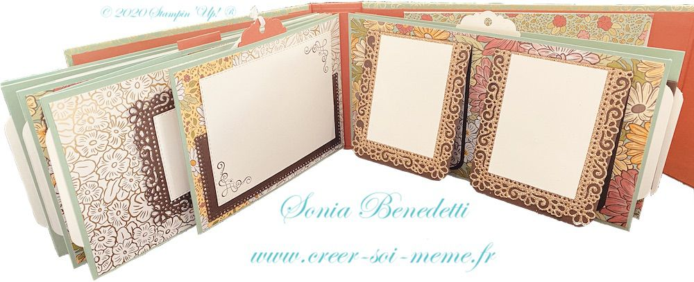 tutoriel gratuit mini album stampin up