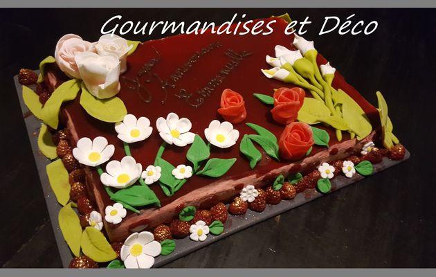 bavarois framboise et son croustillant chocolat