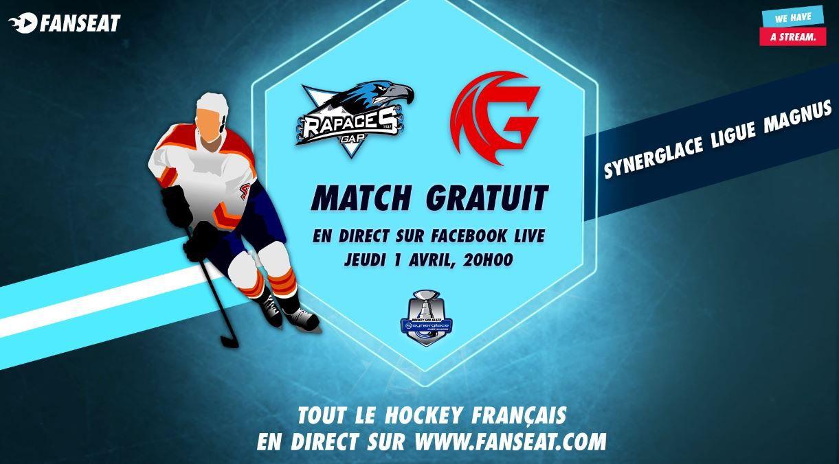 Gap / Amiens (Ligue Magnus) en direct ce jeudi sur Facebook