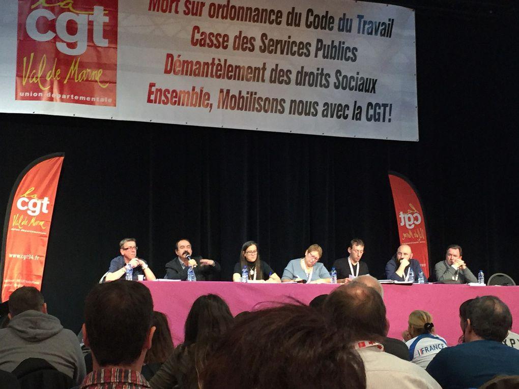 Le  20ème congrès de l'Union Départementale CGTdu 94