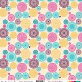 FDSF02510 FDSF02510 Feuille un air hindou - rosaces multicolores FEE DU SCRAP