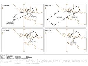 Anak Krakatau - Volcanic Ash Advisory of 3 and 4 January - Doc. VAAC Darwin - one click to enlarge