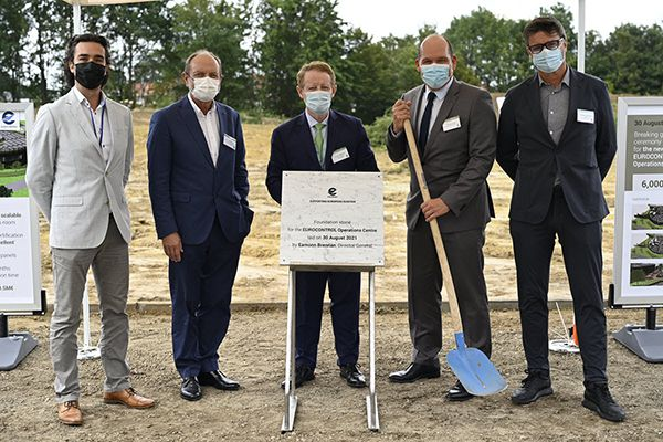 EUROCONTROL inaugurates the laying of the foundation stone for its new building