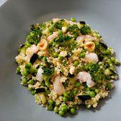 Taboulé vert aux crevettes de Cyril Lignac dans tous en cuisine - Mes Meilleures Recettes Faciles