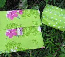 porte-monnaie, vert à pois blanc