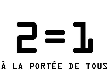 2=1 en titre en caractère OCR A.