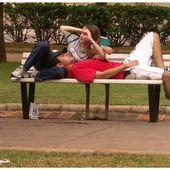 Les amoureux qui s'bécotent sur les bancs publics ... - Images du Beau du Monde