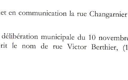 Quartier centre ville : la rue Berthier et la ruelle Rollet.