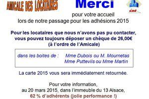 Adhésions 2015 merci