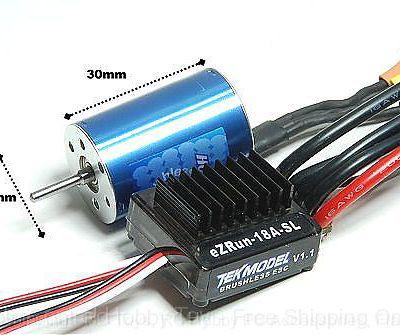 Comparo moteurs RC18: Graupner Speed 300 Vs Hobbywing EzRun 7800Kv