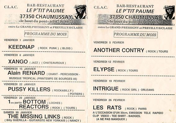 flyers années 80