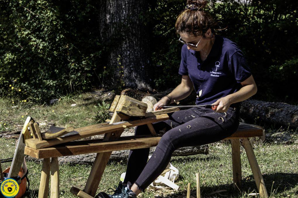 Vidéo et images de la visite à la fête de la forêt et du bois de la Martre (Var)