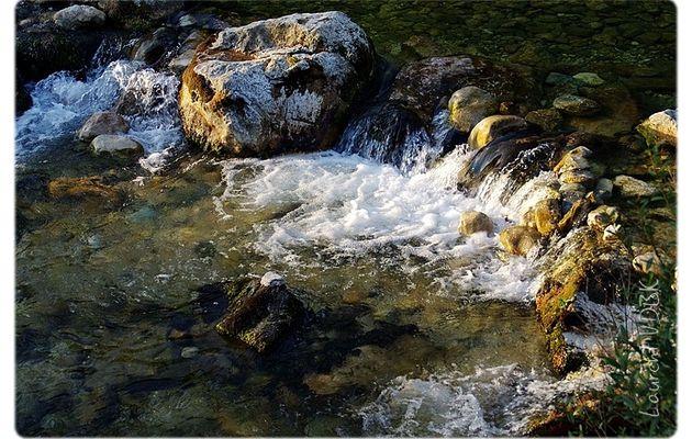Vercors : petites cascades sur la Bourne