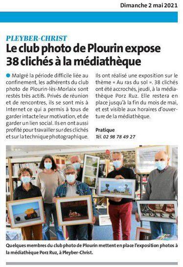 """L'expo """"Au ras du sol"""", du Photo Club Plourinois est visible à la médiathèque de Pleyber Christ du 29 avril jusque fin mai 2021."""