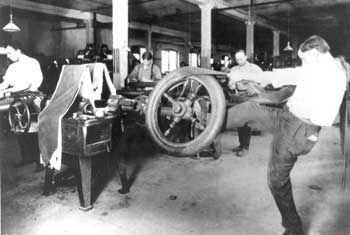 Pneus usine Goodyear 1906