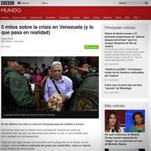 """La BBC reconnaît qu'il y a """"des représentations exagérées et des mythes"""" à propos de la crise au Venezuela"""