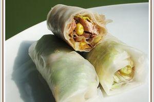 Rouleaux de printemps au thon et au maïs