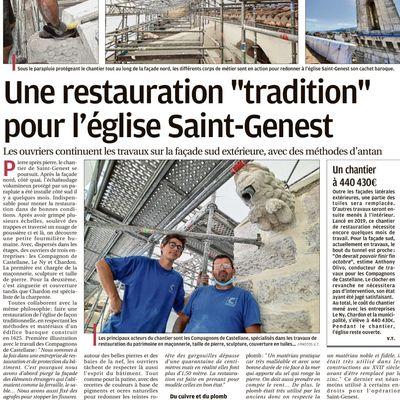 RESTAURATION DE L'ÉGLISE SAINT GENEST