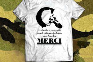 T-shirt France: Victime du devoir - Merci Soldat 2.