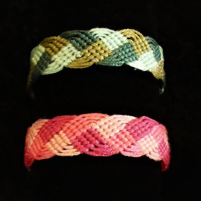 Bracelets brésiliens en forme de tresse