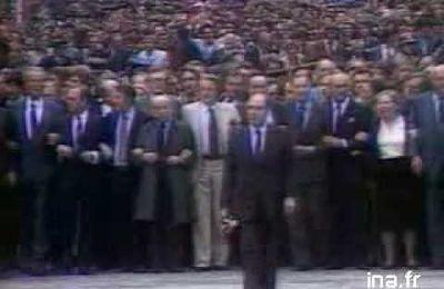 l'investiture de François Mitterrand