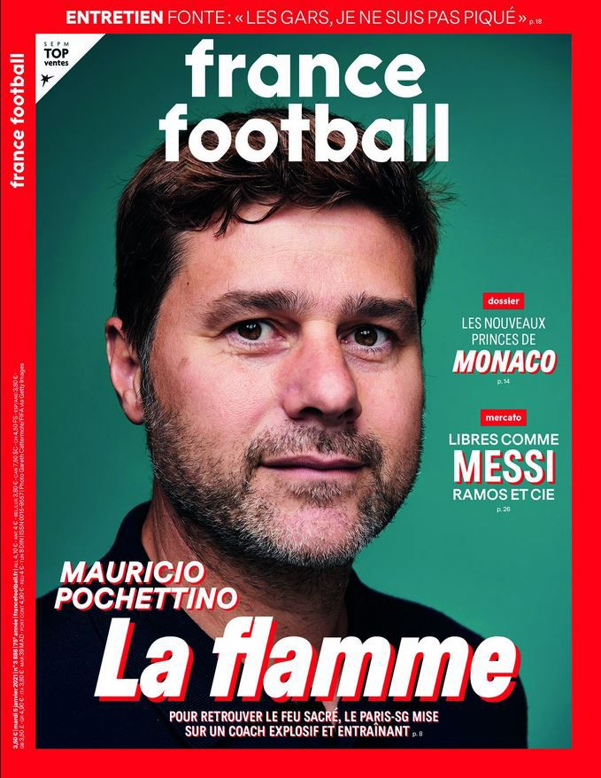 Mauricio Pochettino à la Une de France Football ce mardi !