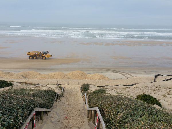 Entretien de la plage après les tempêtes