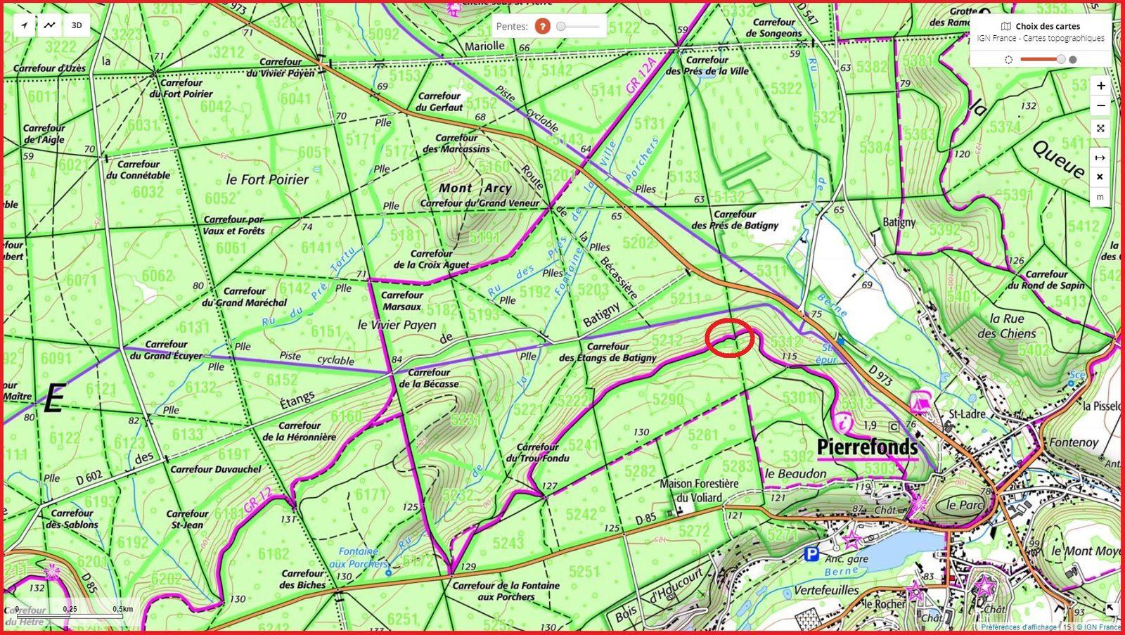carrefour_Route des Pendants Mathieu_Route Tournante sur le Voliard (GR12)