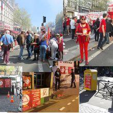 27 initiatives militantes extérieures de la section du PCF Paris 15 depuis le début avril dans les quartiers et entreprises de l'arrondissement