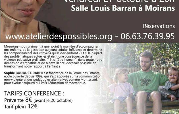Conférence et atelier de Sophie Rabhi à Moirans