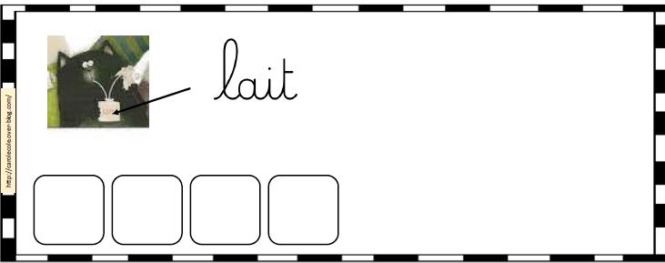 Splat : Ecriture mots avec lettres mobiles et étiquettes mots