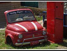Vieille Fiat à demi endormie ...